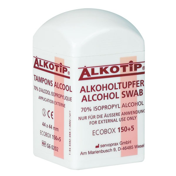 Alkoholtupfer in der Dispenserdose